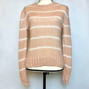 Superdry Blush Pink Stripe Nordic Sweater. Size XS